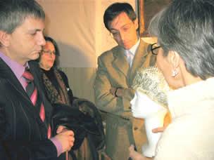 Presentazione del libro - Da sinistra: il presidente Vendola, il commissario Volpe e Rosamaria Faenza Jatta
